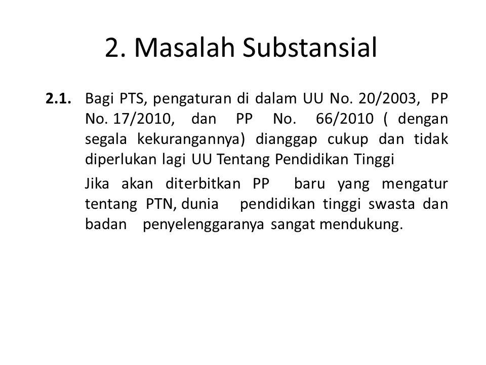 2. Masalah Substansial