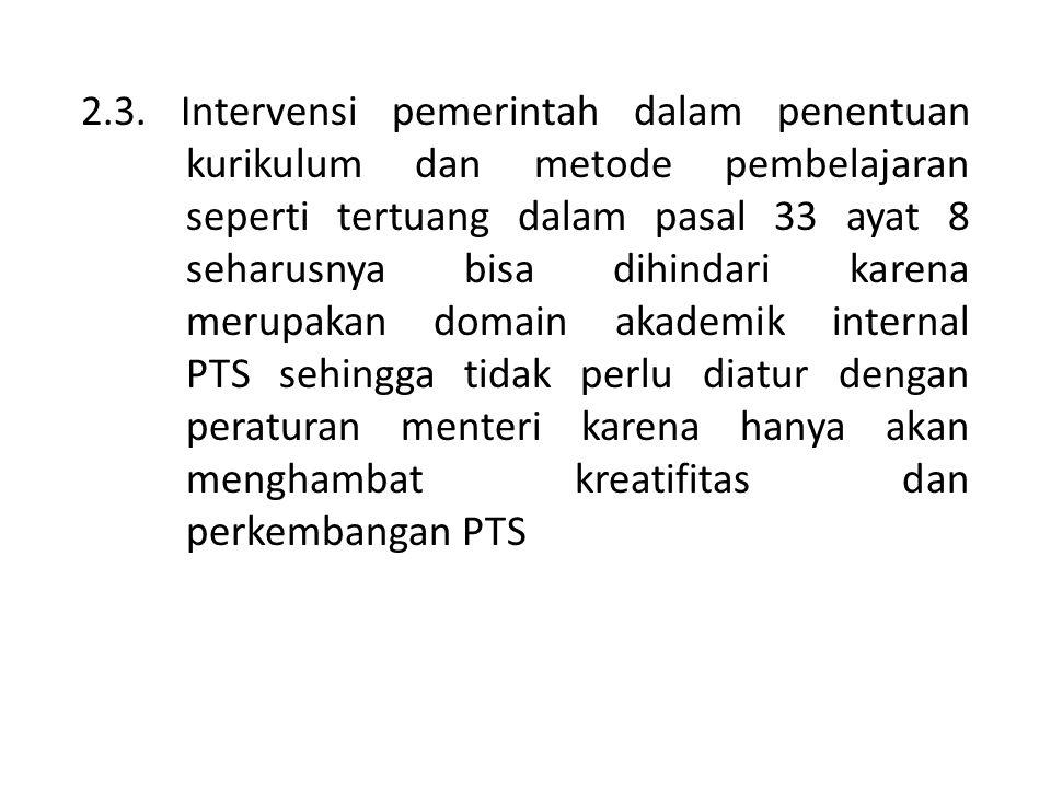 2. 3. Intervensi pemerintah dalam penentuan