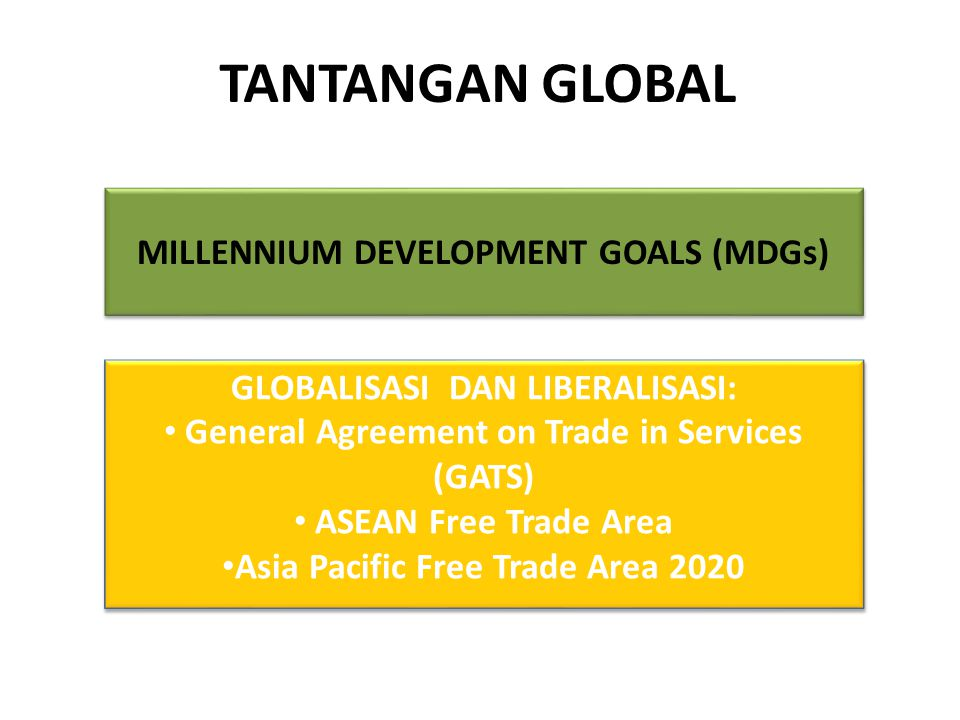 TANTANGAN GLOBAL MILLENNIUM DEVELOPMENT GOALS (MDGs)