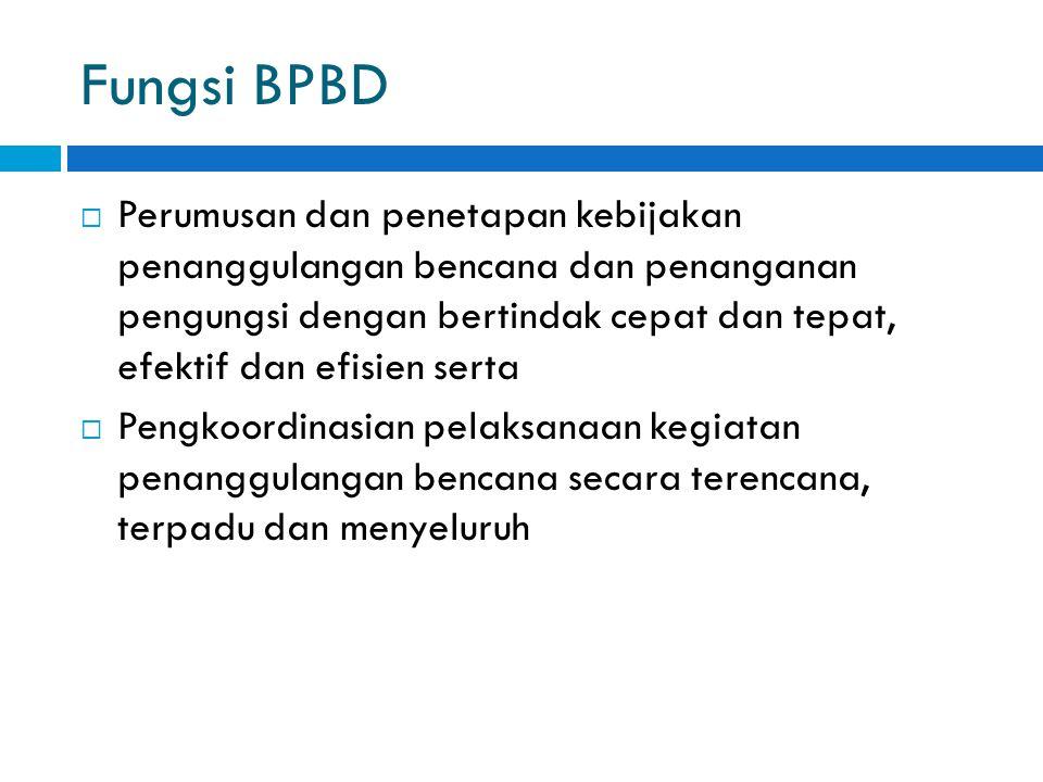 Fungsi BPBD