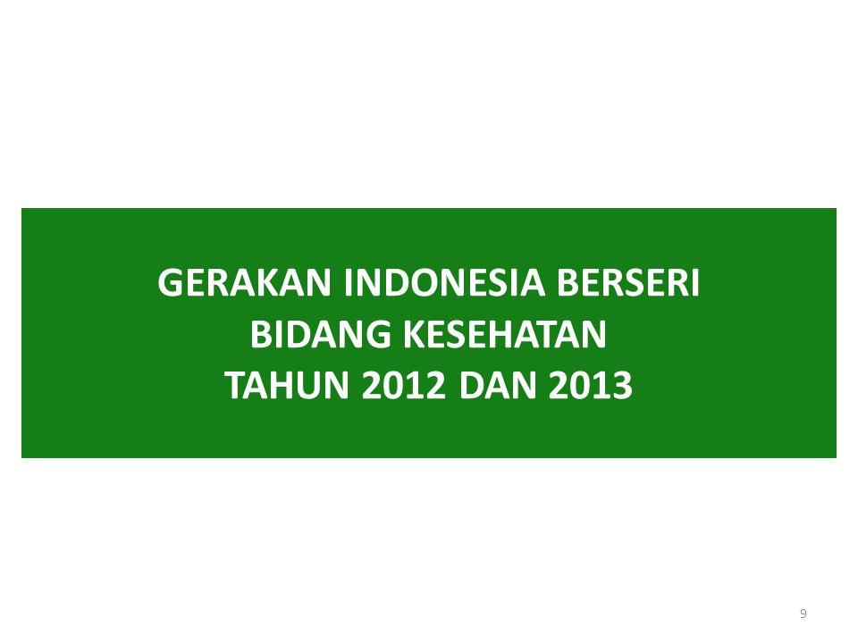 GERAKAN INDONESIA BERSERI BIDANG KESEHATAN TAHUN 2012 DAN 2013