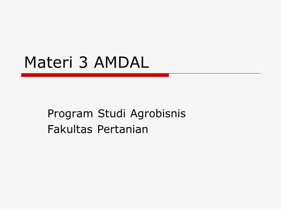 Program Studi Agrobisnis Fakultas Pertanian