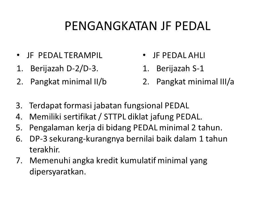 PENGANGKATAN JF PEDAL JF PEDAL TERAMPIL Berijazah D-2/D-3.