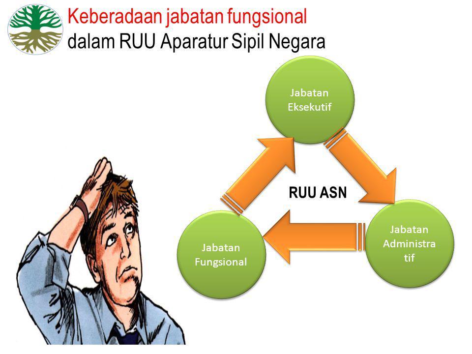 Keberadaan jabatan fungsional dalam RUU Aparatur Sipil Negara