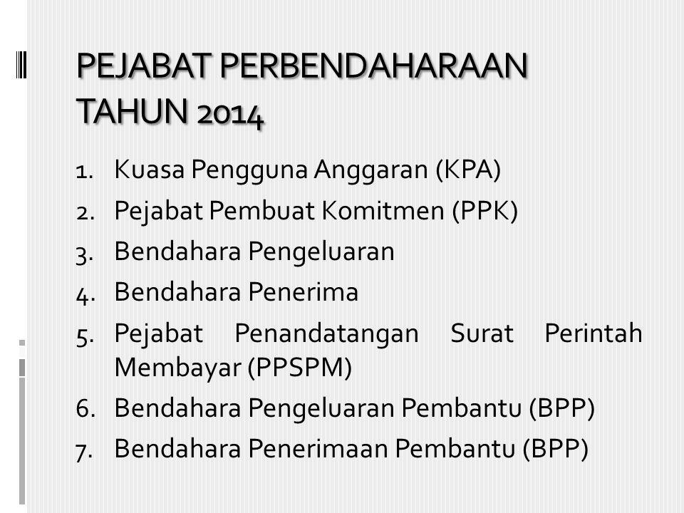 PEJABAT PERBENDAHARAAN TAHUN 2014