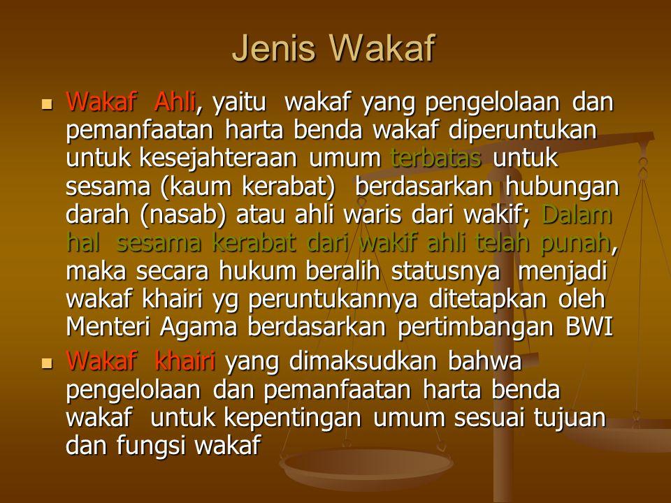 Jenis Wakaf