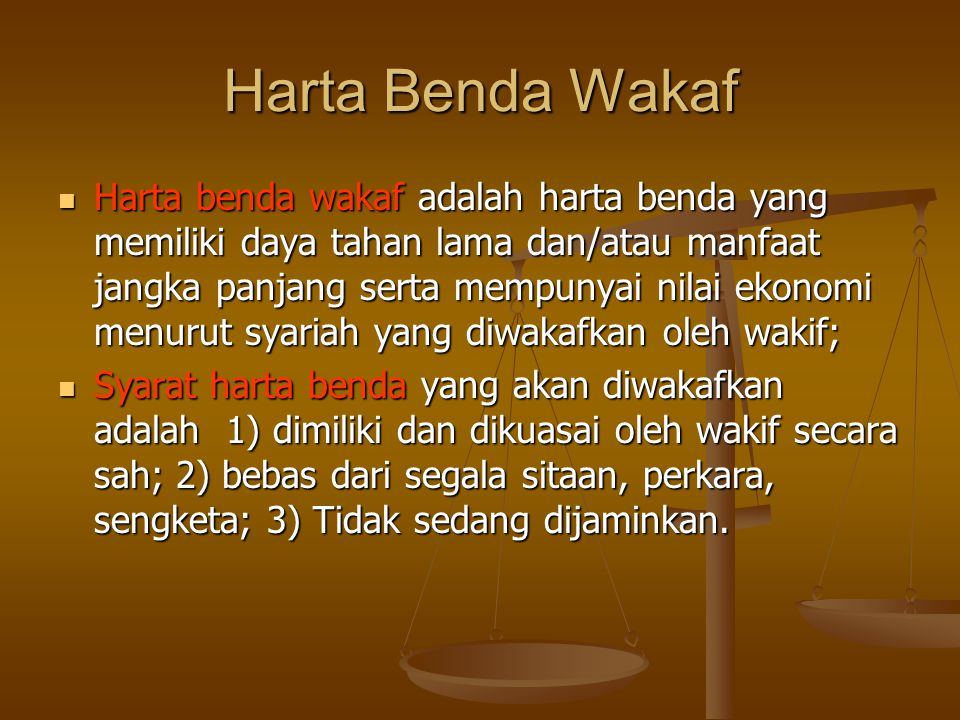 Harta Benda Wakaf