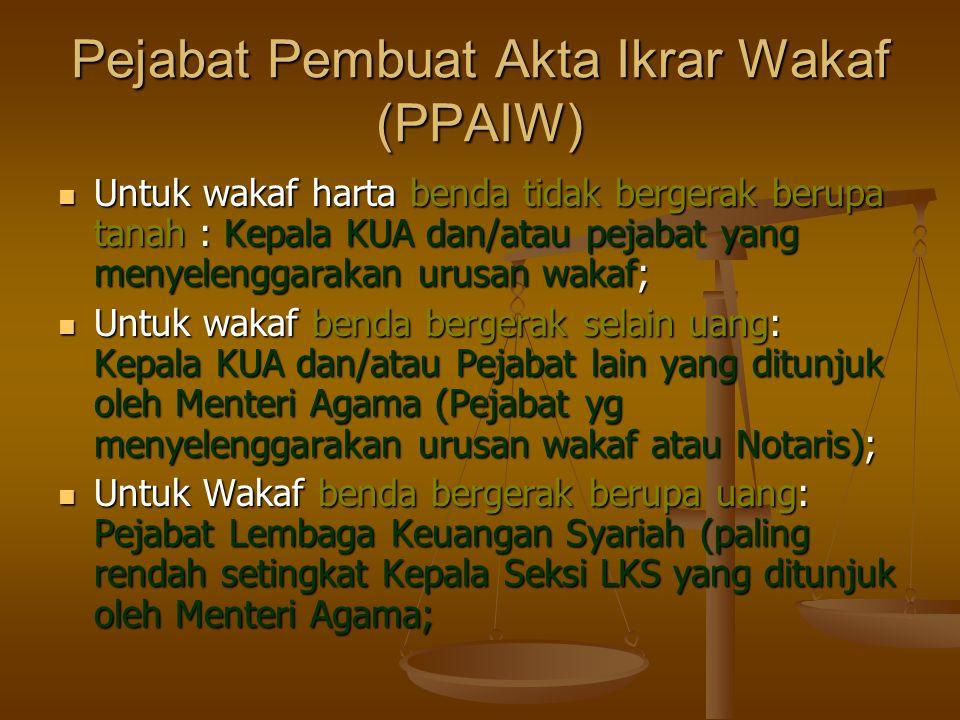 Pejabat Pembuat Akta Ikrar Wakaf (PPAIW)
