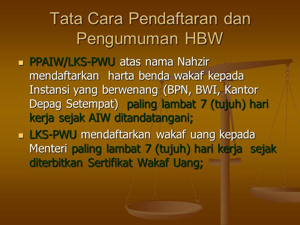 Tata Cara Pendaftaran dan Pengumuman HBW