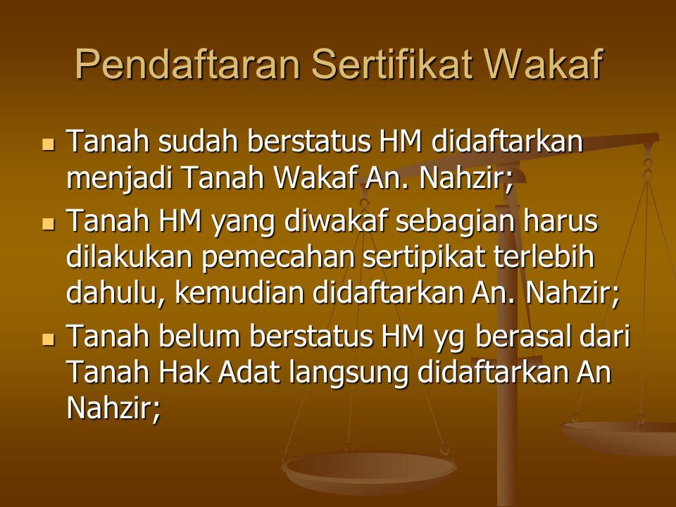 Pendaftaran Sertifikat Wakaf