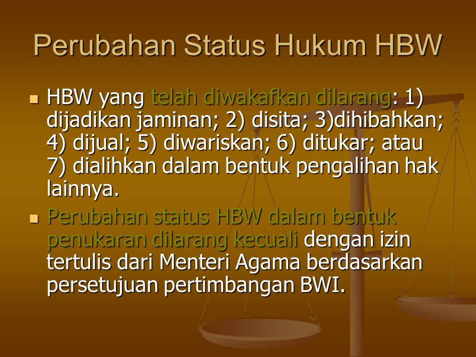 Perubahan Status Hukum HBW