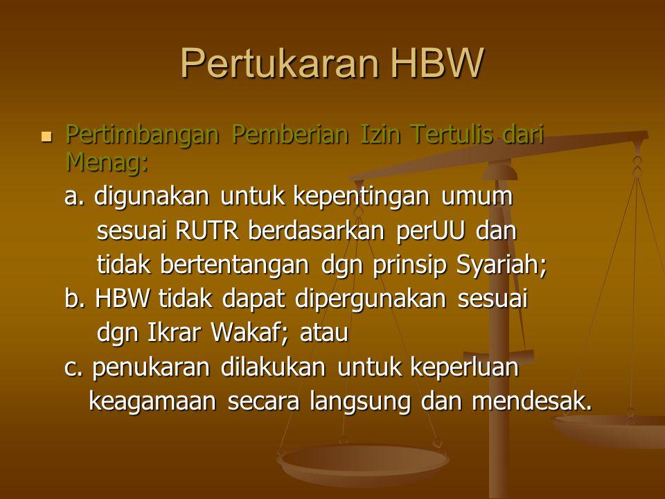 Pertukaran HBW Pertimbangan Pemberian Izin Tertulis dari Menag: