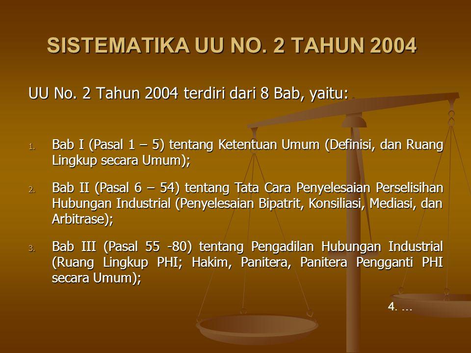 SISTEMATIKA UU NO. 2 TAHUN 2004