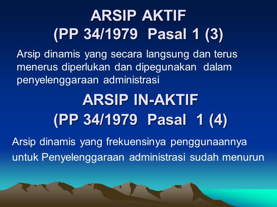 ARSIP AKTIF (PP 34/1979 Pasal 1 (3)