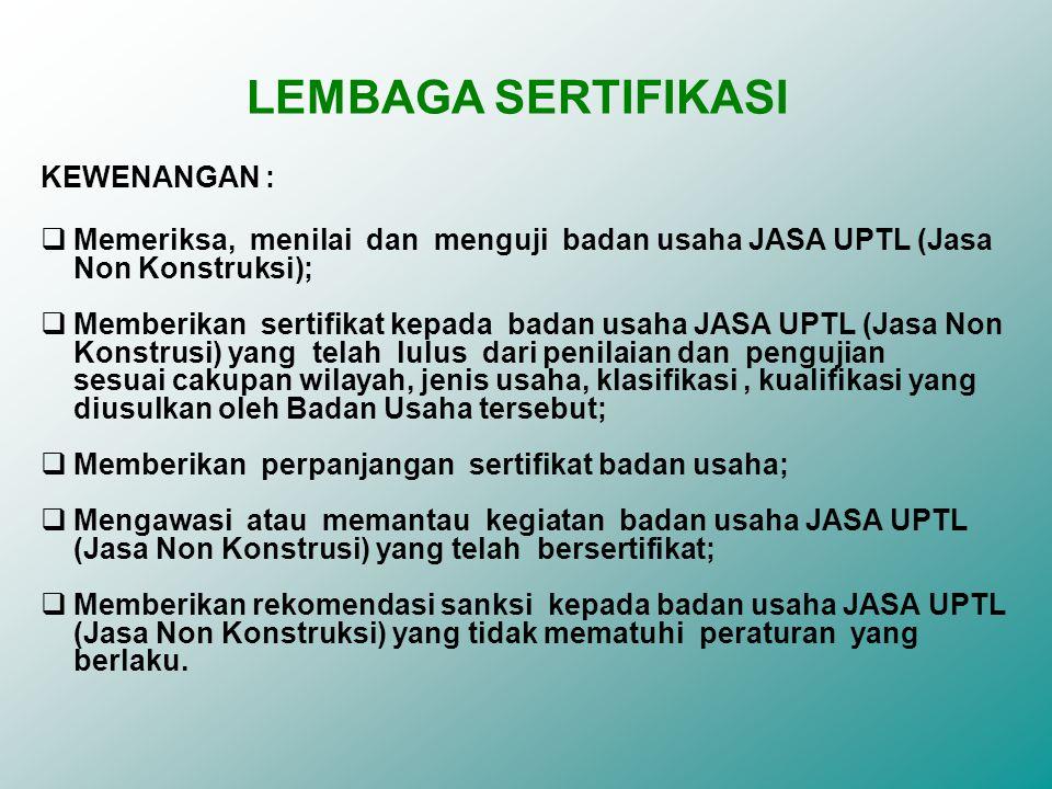 LEMBAGA SERTIFIKASI KEWENANGAN :