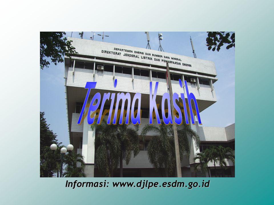 Terima Kasih Informasi: www.djlpe.esdm.go.id