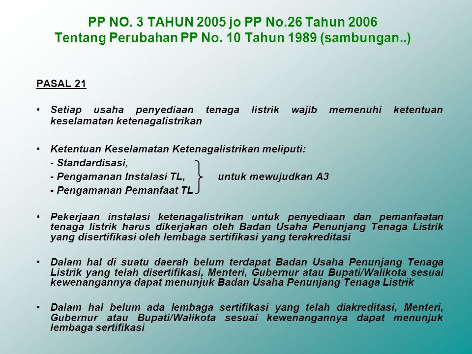 PP NO. 3 TAHUN 2005 jo PP No. 26 Tahun 2006 Tentang Perubahan PP No