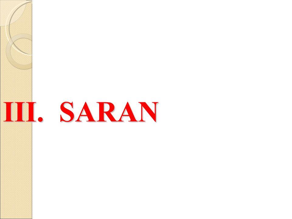 III. SARAN