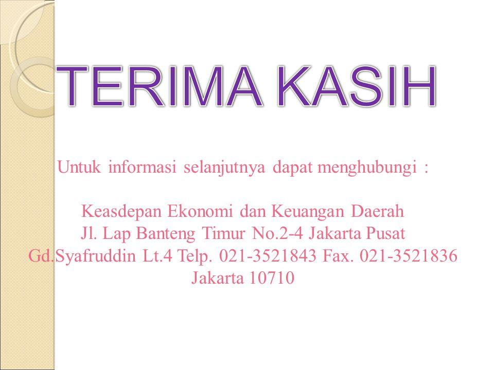 Untuk informasi selanjutnya dapat menghubungi :