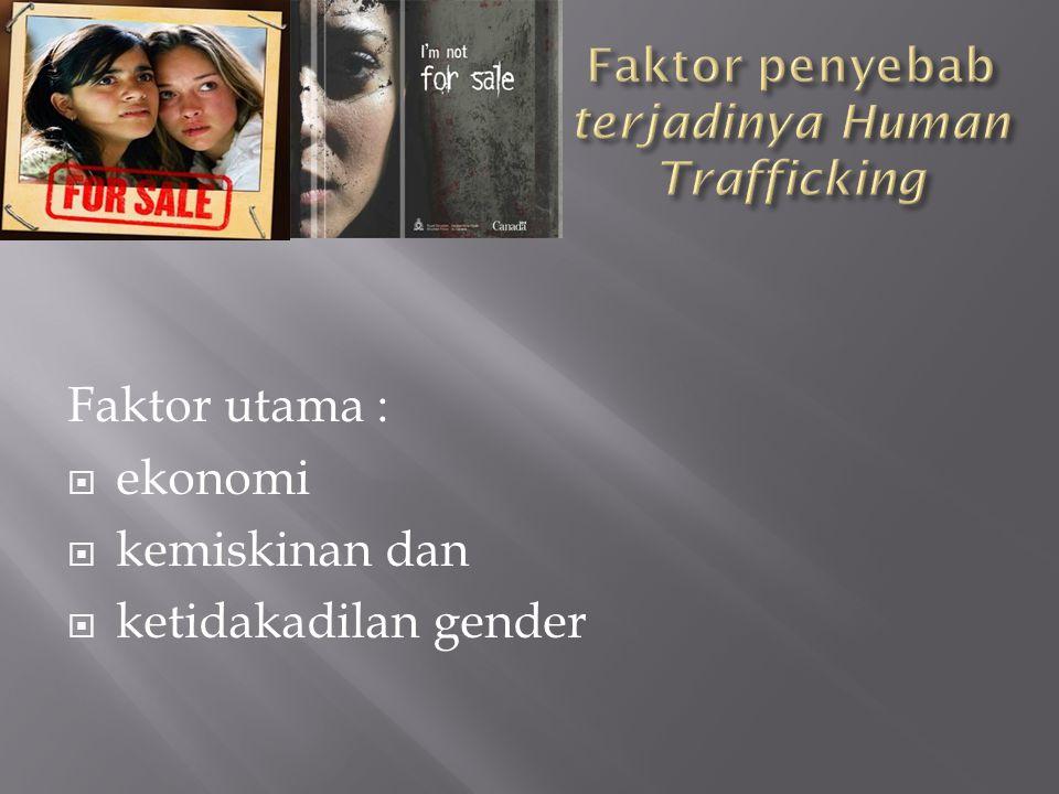 Faktor penyebab terjadinya Human Trafficking
