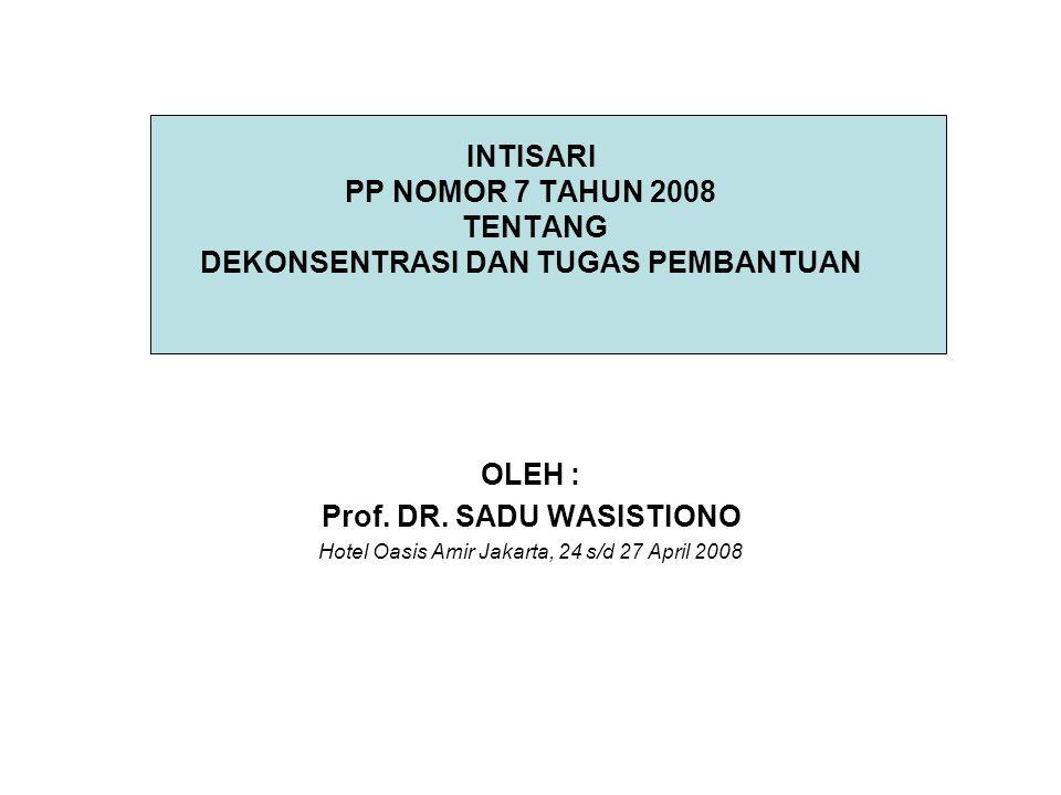 Prof. DR. SADU WASISTIONO