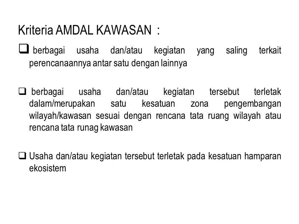 Kriteria AMDAL KAWASAN :