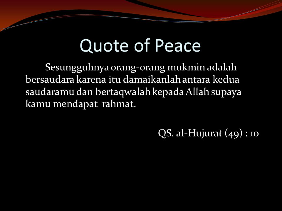 Quote of Peace
