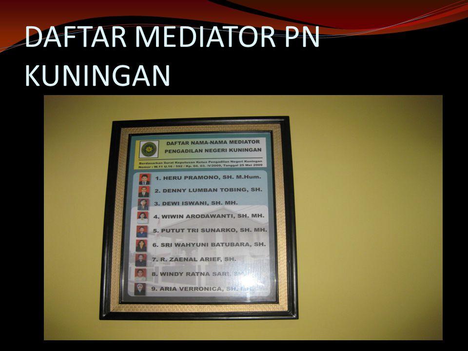 DAFTAR MEDIATOR PN KUNINGAN