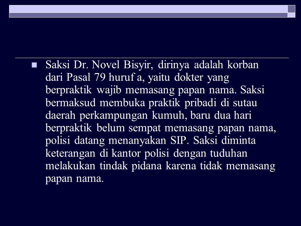 Saksi Dr.