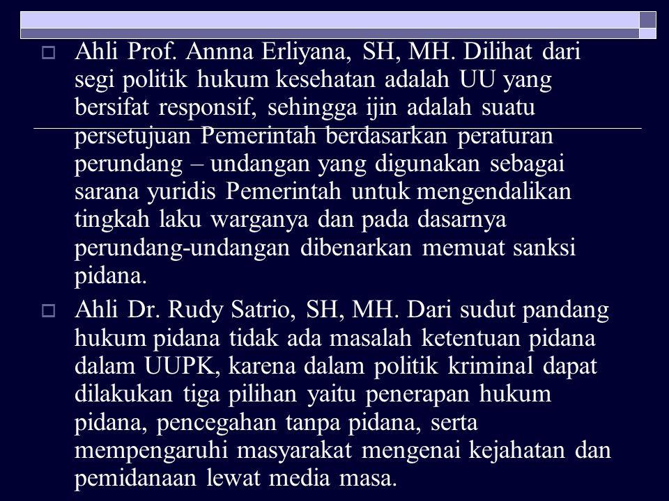 Ahli Prof. Annna Erliyana, SH, MH
