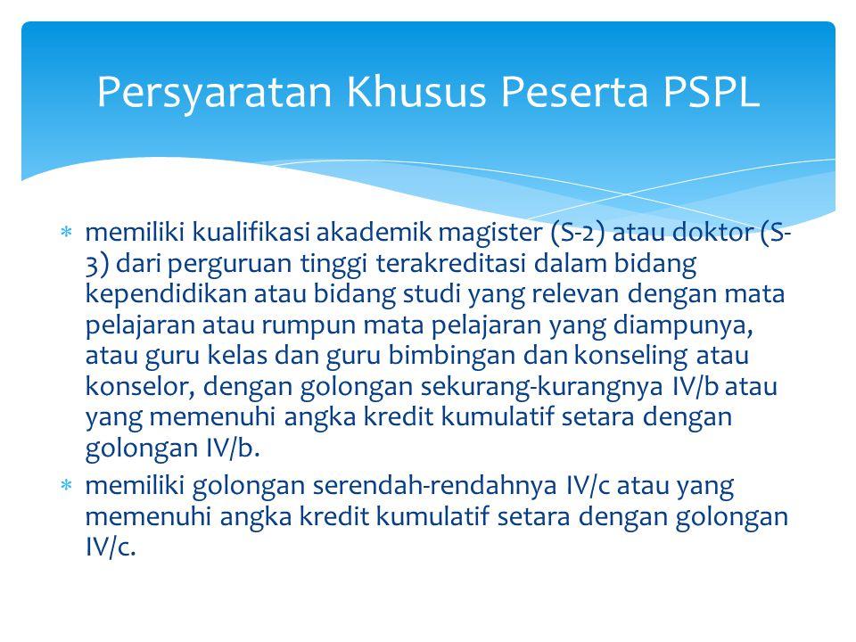 Persyaratan Khusus Peserta PSPL