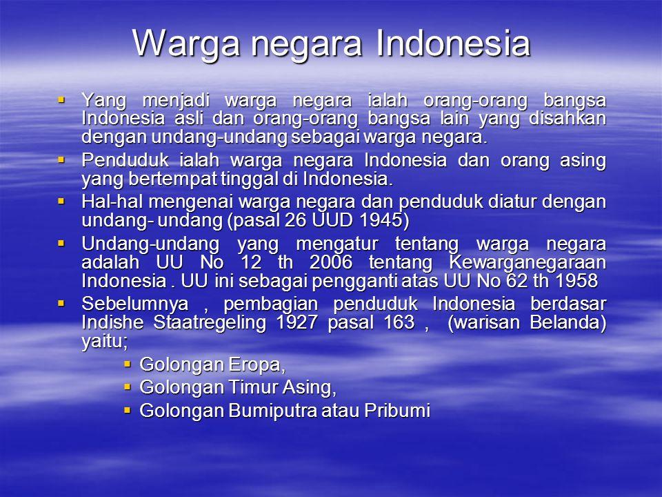 Warga negara Indonesia