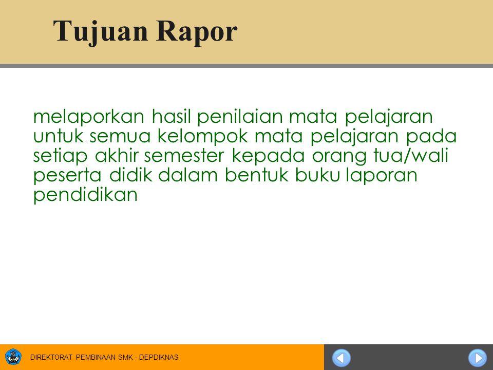 Tujuan Rapor