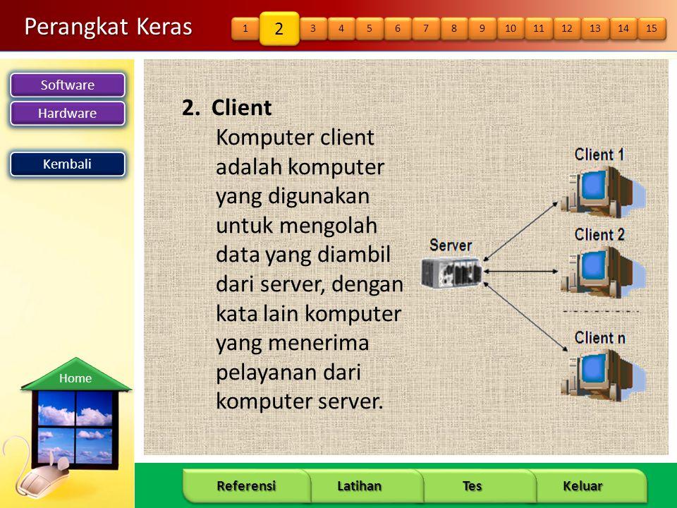 Perangkat Keras 2. Client