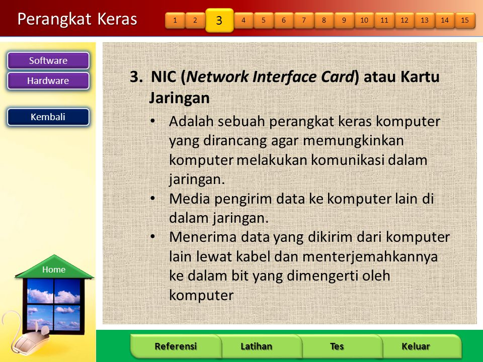 Perangkat Keras 3. NIC (Network Interface Card) atau Kartu Jaringan