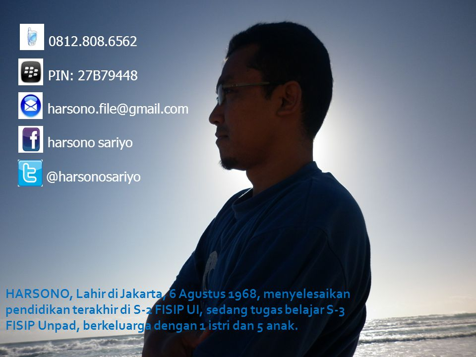 0812.808.6562 PIN: 27B79448. harsono.file@gmail.com. harsono sariyo. @harsonosariyo.