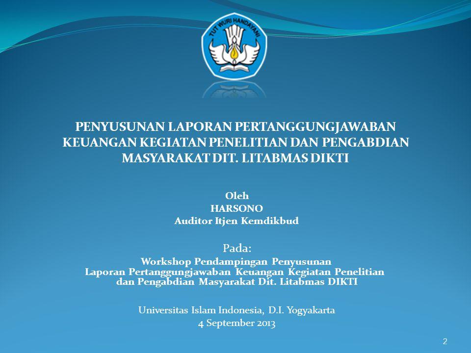 Auditor Itjen Kemdikbud