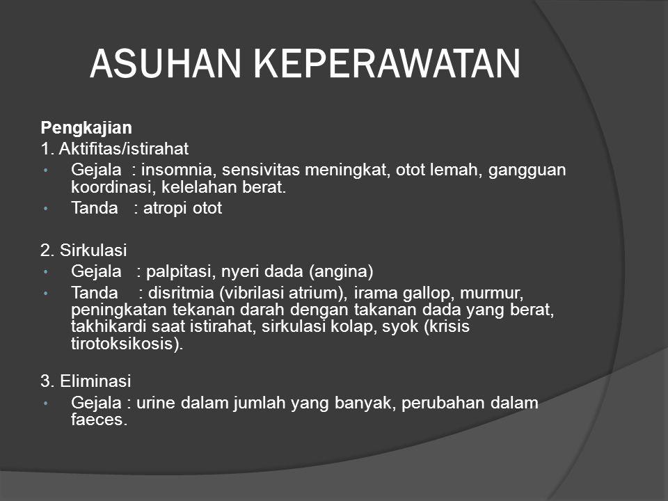 ASUHAN KEPERAWATAN Pengkajian 1. Aktifitas/istirahat
