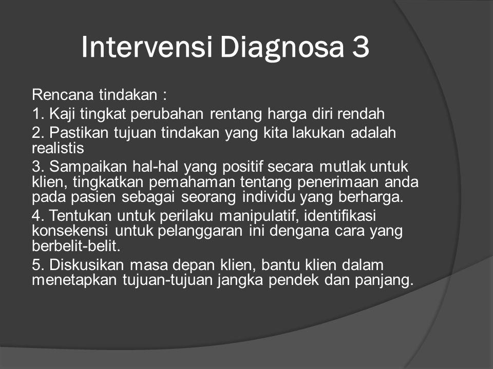 Intervensi Diagnosa 3