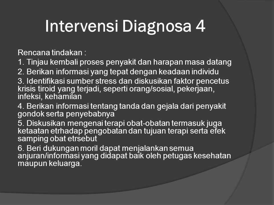 Intervensi Diagnosa 4