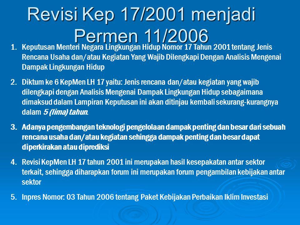 Revisi Kep 17/2001 menjadi Permen 11/2006