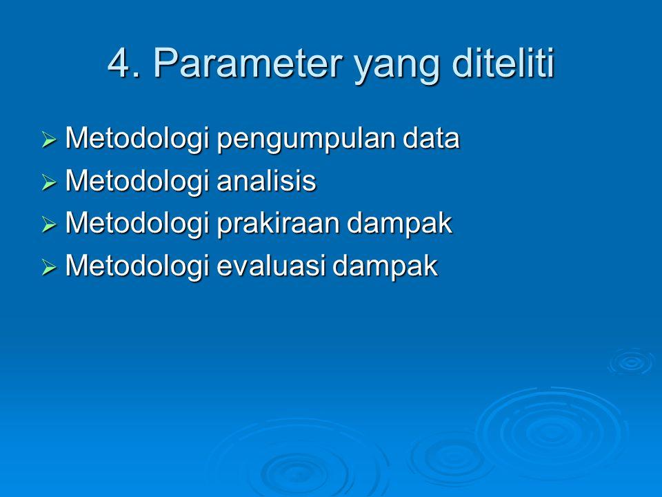 4. Parameter yang diteliti