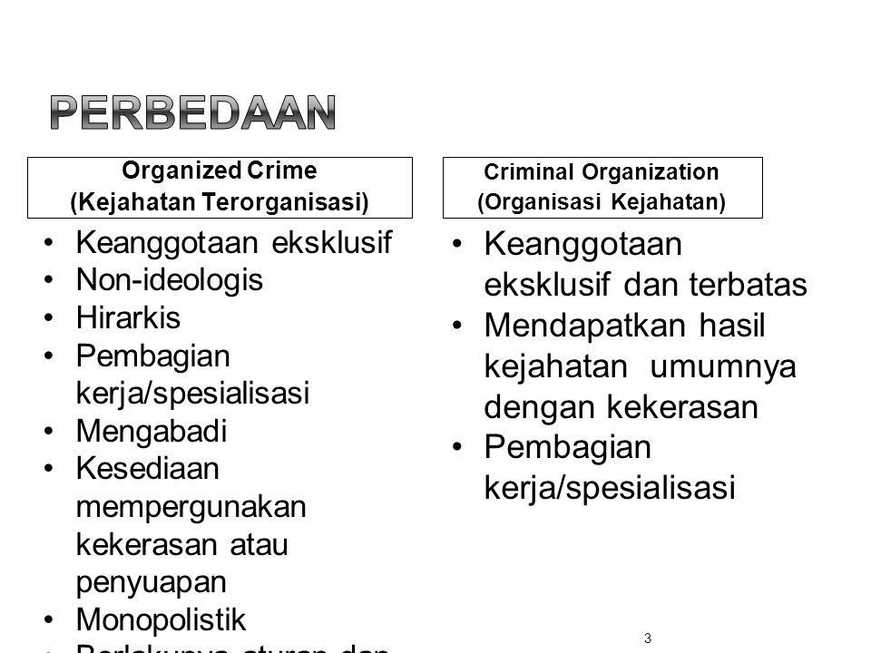 (Kejahatan Terorganisasi) Criminal Organization (Organisasi Kejahatan)