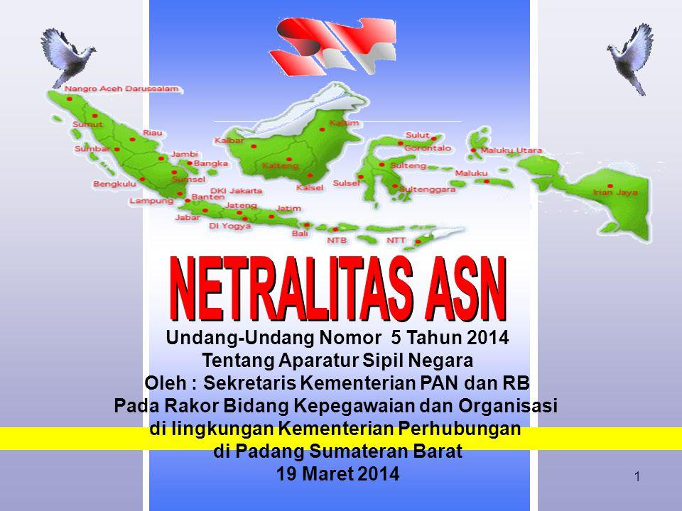 NETRALITAS ASN Undang-Undang Nomor 5 Tahun 2014