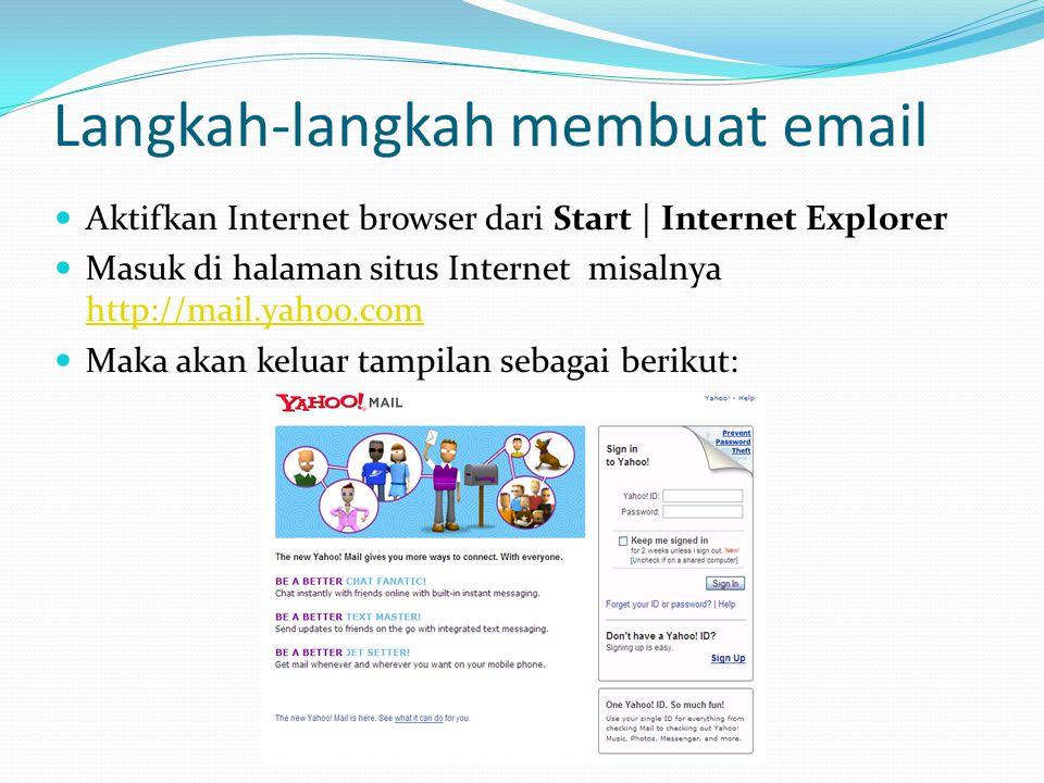 Langkah-langkah membuat email