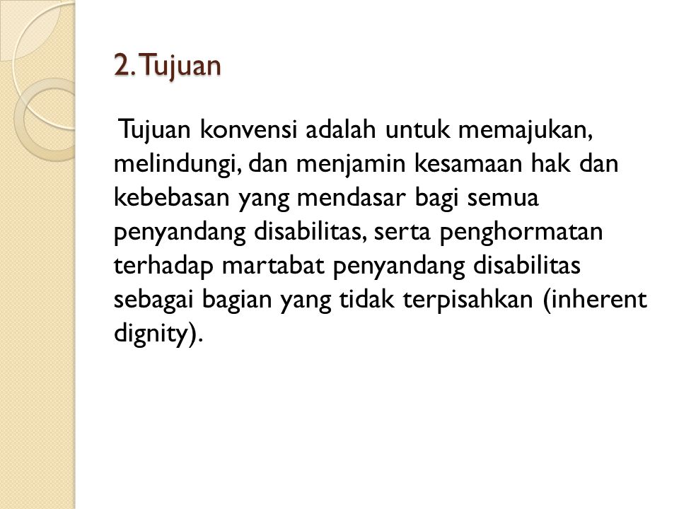 2. Tujuan
