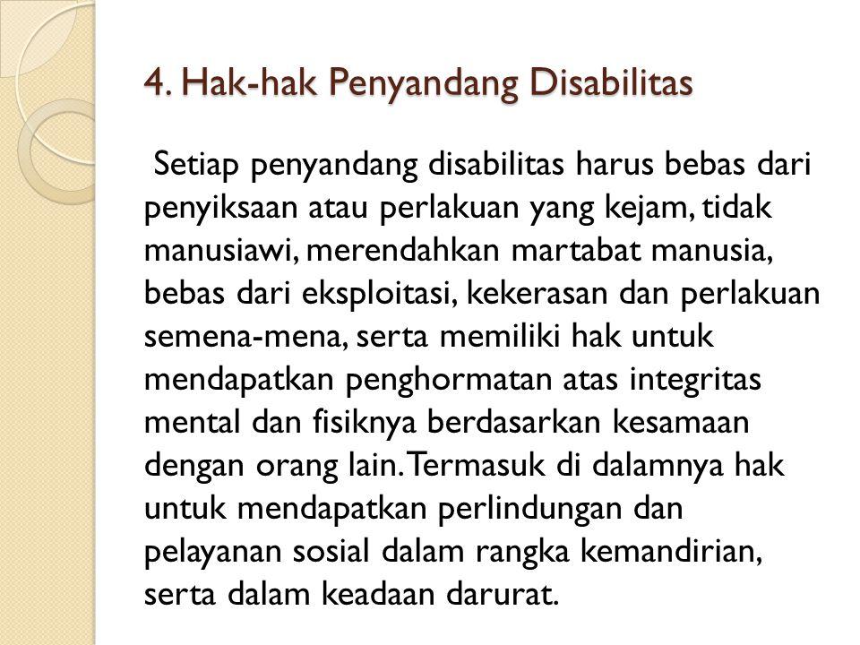 4. Hak-hak Penyandang Disabilitas