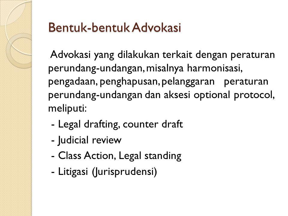 Bentuk-bentuk Advokasi