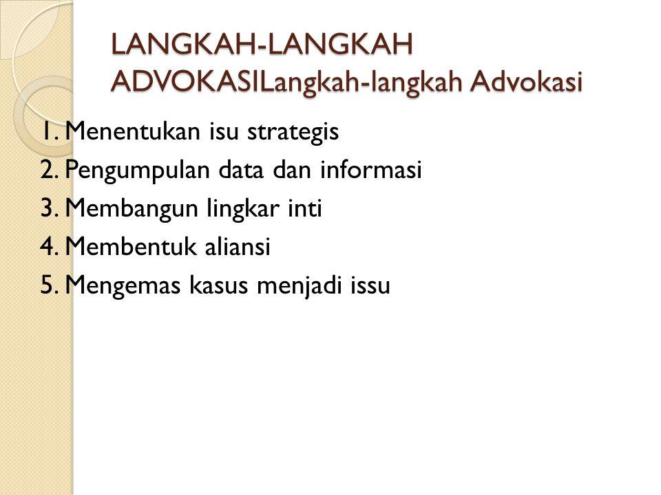 LANGKAH-LANGKAH ADVOKASILangkah-langkah Advokasi
