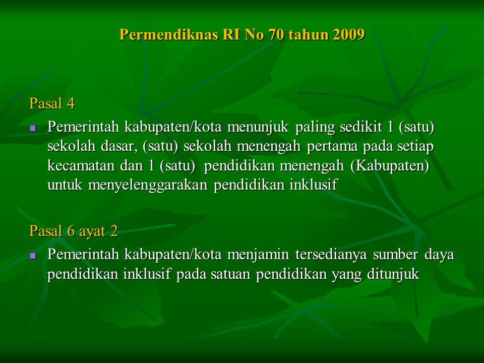 Permendiknas RI No 70 tahun 2009